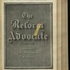 The Reform advocate, Vol. 32, no. 9