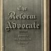 The Reform advocate, Vol. 37, no. 3