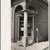 Entrance closed bank, Scott, Louisiana.