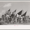 Parade of the colors, state fair, Donaldsonville, Louisiana.