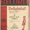 Motion picture record, Vol. 4, no. 16