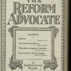 The Reform advocate, Vol. 82, no. 2
