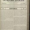 The Reform advocate, Vol. 83, no. 7