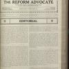 The Reform advocate, Vol. 83, no. 13