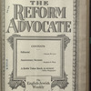 The Reform advocate, Vol. 83, no. 15