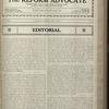 The Reform advocate, Vol. 83, no. 15
