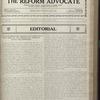 The Reform advocate, Vol. 83, no. 20