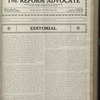 The Reform advocate, Vol. 83, no. 22