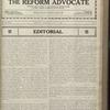 The Reform advocate, Vol. 83, no. 23