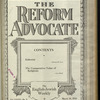 The Reform advocate, Vol. 85, no. 8