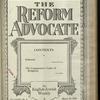 The Reform advocate, Vol. 85, no. 8