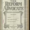 The Reform advocate, Vol. 85, no. 9