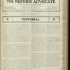 The Reform advocate, Vol. 85, no. 9