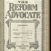 The Reform advocate, Vol. 85, no. 13