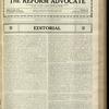 The Reform advocate, Vol. 85, no. 14