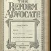 The Reform advocate, Vol. 85, no. 21