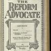 The Reform advocate, Vol. 85, no. 24