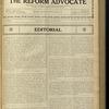 The Reform advocate, Vol. 85, no. 26