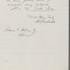 Letter to James Grant Wilson