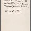 Letter to Maria Gansevoort Melville