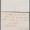 Letter to Susan Lansing Gansevoort