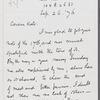 Letter to Catherine Gansevoort Lansing