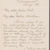 Letter to Catherine Gansevoort Lansing and Abraham Lansing