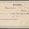 Receipt from the Clerk of the New-York Male High School to Allan Melville for payment of Herman and Allan Melville's tuition