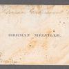 Calling card of Herman Melville