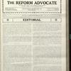 The Reform advocate, Vol. 90, no. 9