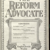 The Reform advocate, Vol. 91, no. 3