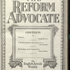 The Reform advocate, Vol. 91, no. 5