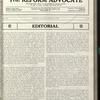 The Reform advocate, Vol. 91, no. 8