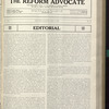 The Reform advocate, Vol. 91, no. 15