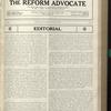 The Reform advocate, Vol. 91, no. 22