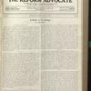 The Reform advocate, Vol. 91, no. 26