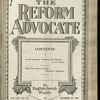 The Reform advocate, Vol. 92, no. 15