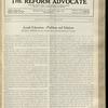 The Reform advocate, Vol. 92, no. 15