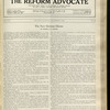 The Reform advocate, Vol. 92, no. 20
