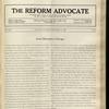 The Reform advocate, Vol. 92, no. 21