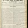 The Reform advocate, Vol. 92, no. 22