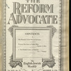 The Reform advocate, Vol. 92, no. 23