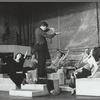 Raul Julia, Karen Akers, Anita Morris and unidentified others  in rehearsal for the stage production Nine