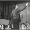 Raul Julia, Karen Akers and unidentified others  in rehearsal for the stage production Nine