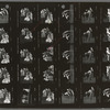 Contact sheet of Raul Julia and others in the stage production Threepenny Opera
