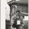 Negro eating lunch in cane fields near New Iberia, Louisiana.