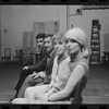 Bert Convy, Jack Gilford, Lotte Lenya and Jill Haworth in rehearsal for the stage production Cabaret
