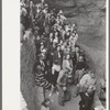 Tourists waiting to go into Carlsbad Caverns, New Mexico.