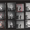 Contact sheet including images of Eileen Heckart, Shelley Berman, Larry Kert, and Rita Gardner in rehearsal