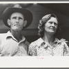 Migratory laborer and his wife at the Agua Fria Migratory Labor Camp, Arizona